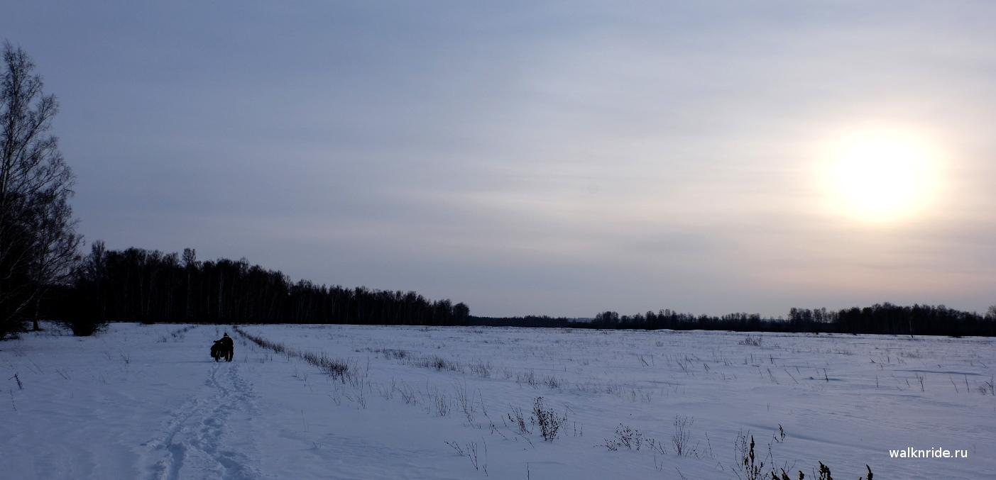Зимний поход на велосипеде