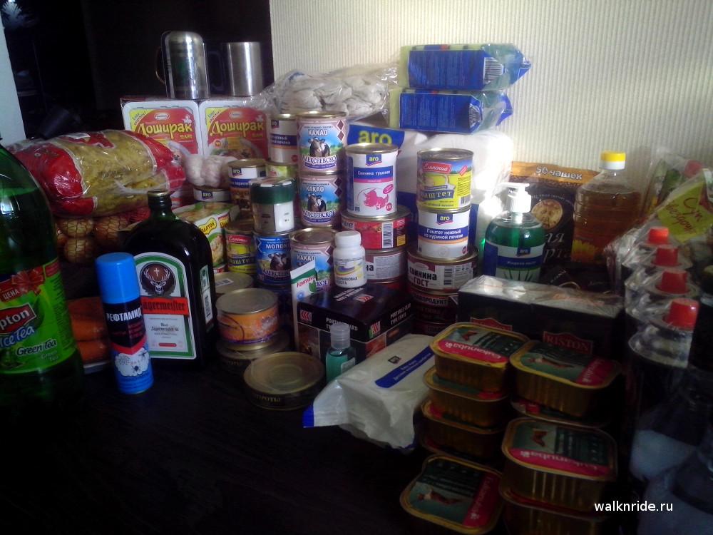 Запас продуктов